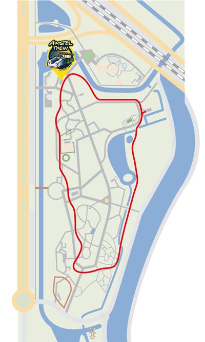 Route in het Amstelpark